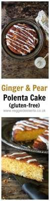 Gluten-free Ginger and Pear Polenta Cake | Veggie Desserts by Kate Hackworthy
