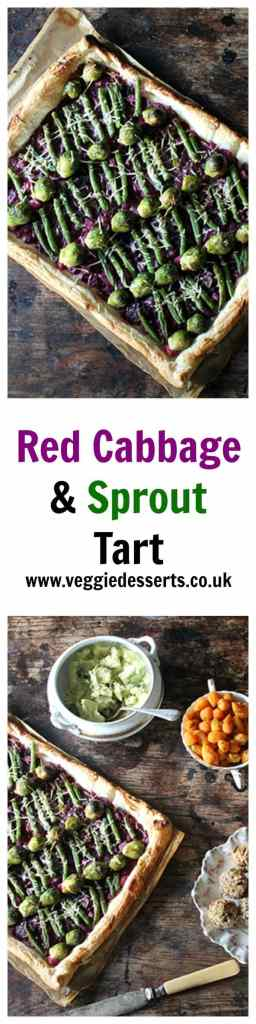 Red Cabbage and Sprout Tart | Christmas Leftovers | Veggie Desserts
