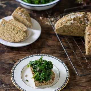 Seedy Soday Bread with Herby Greens | Veggie Desserts Blog