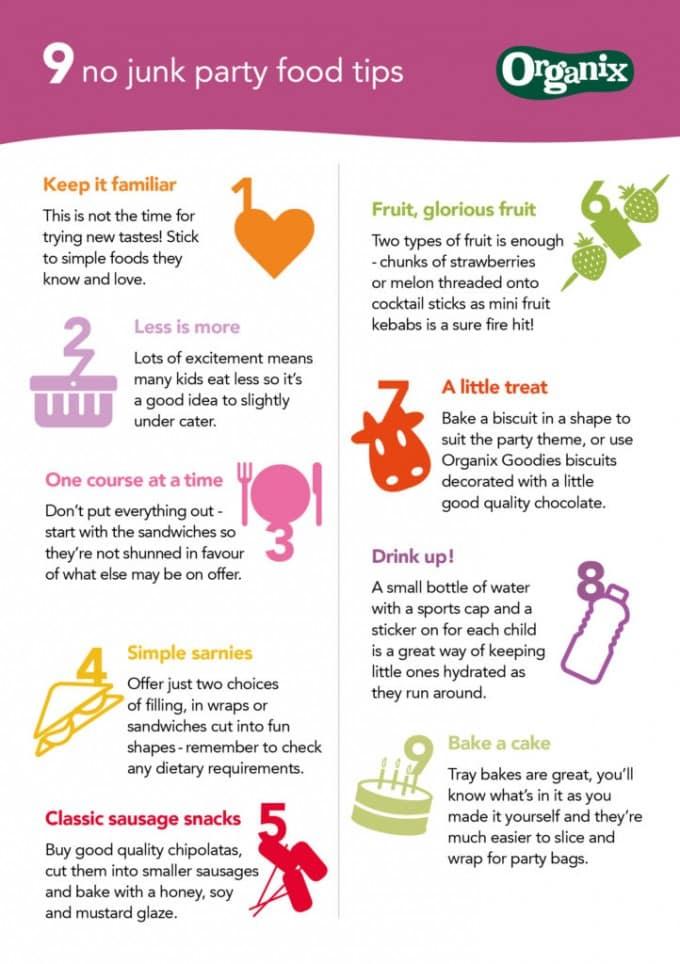 Organix Healthier Kids Party Tips | Veggie Desserts Blog