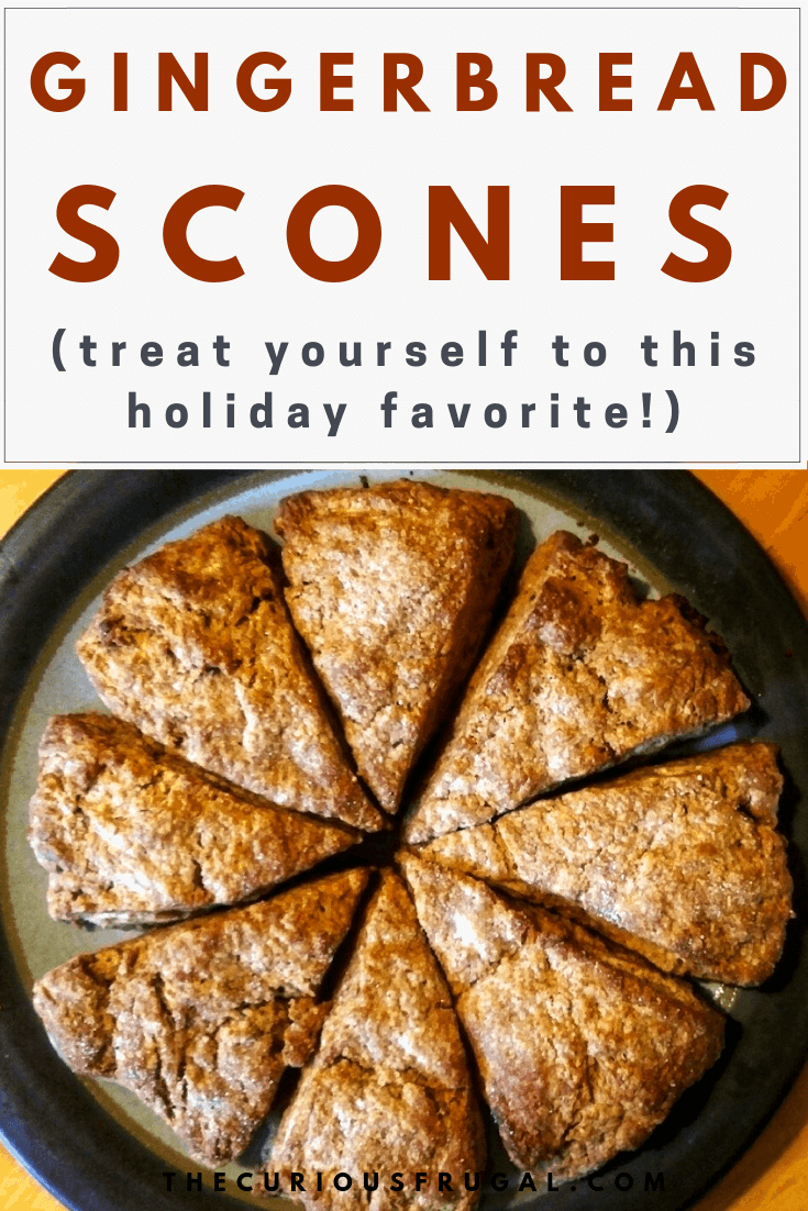 Gingerbread Scones Recipe (that tastes like Christmas!)