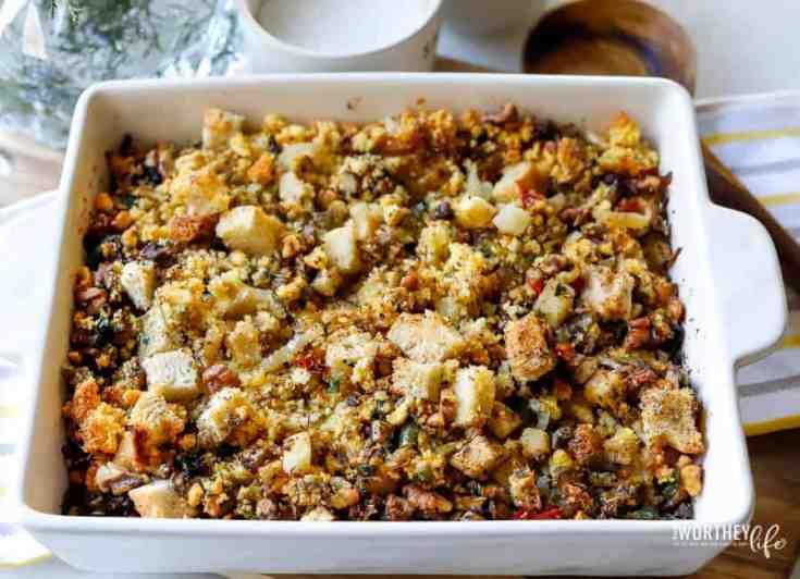 Vegan Stuffing Recipe using Sourdough + Cornbread Dressing