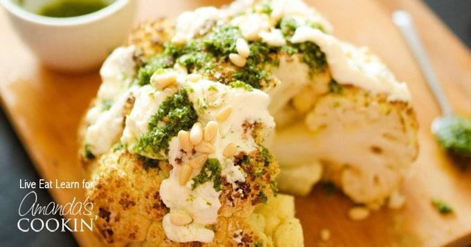 Roasted Cauliflower: roast a healthy side dish!
