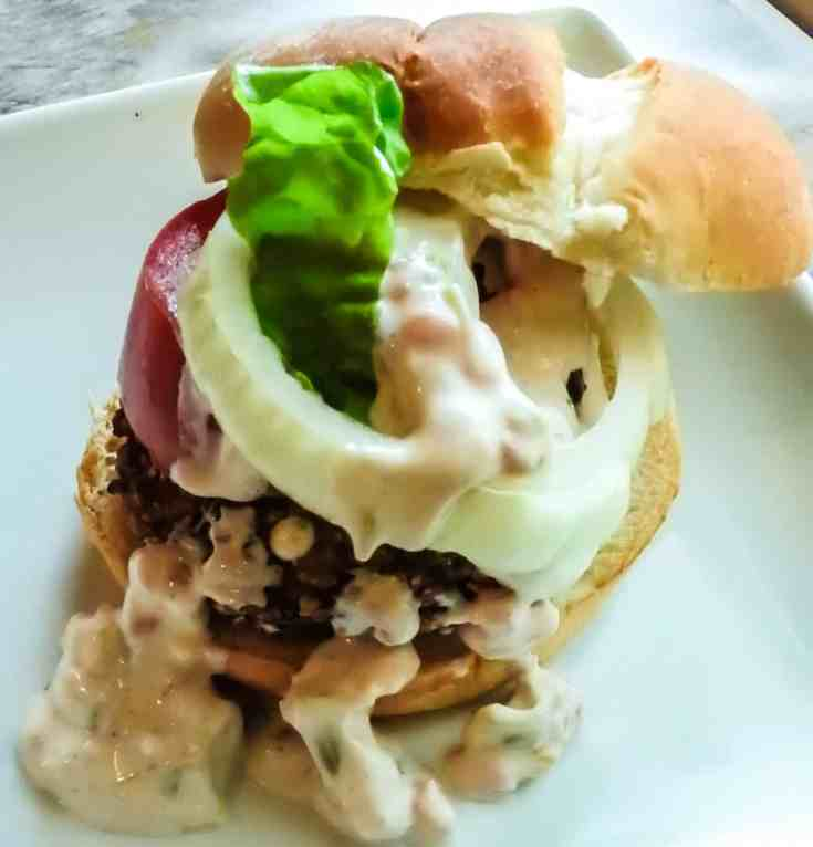 Grillable Homemade Veggie Burger