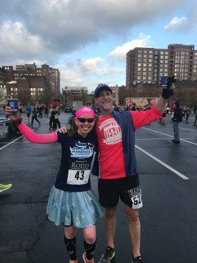 Matthew and I after we finished Rodes City Run 10K