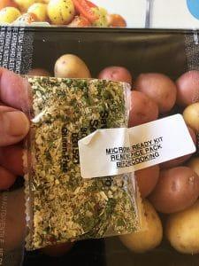 Little Potato Company Seasonings Close Up