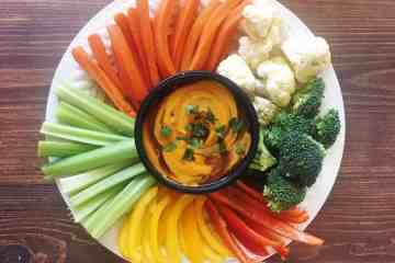 Vegan Chili Cheese Sauce with Vegetable Plate