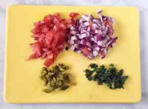 Guacamole Veggies Chopped