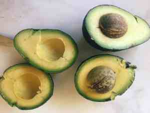 Two Avocados Cut