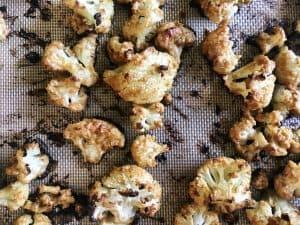 Roasted Cauliflower on the Pan