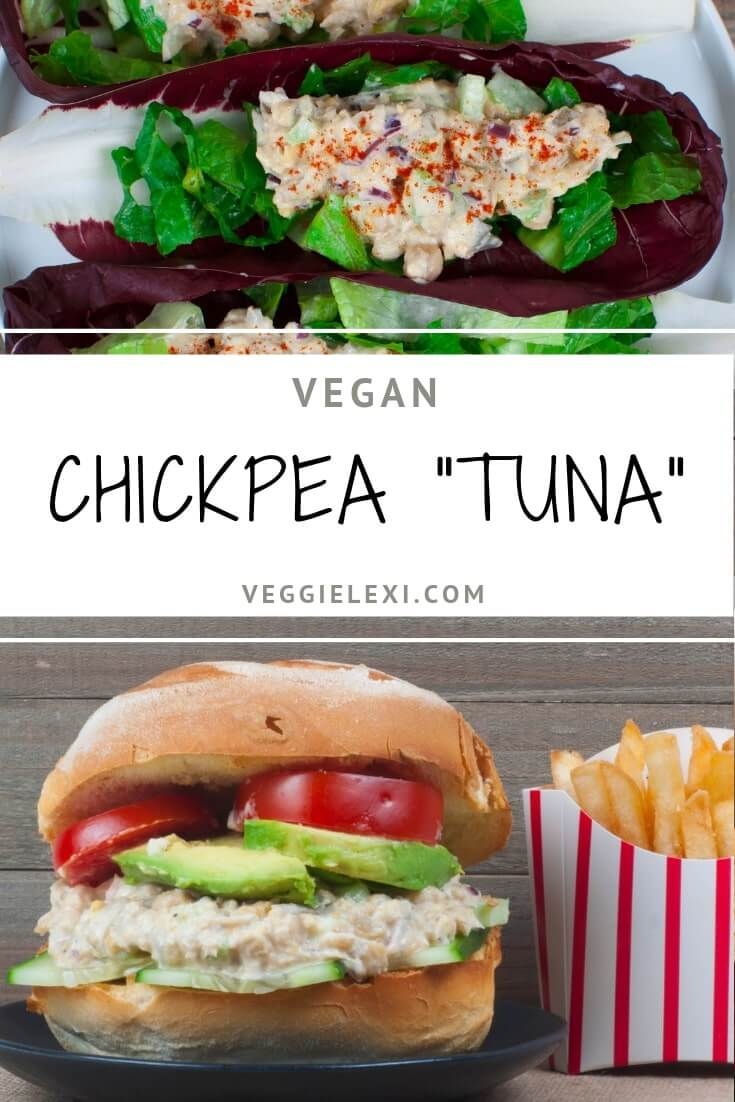 Chickpea Tuna Sandwich and Lettuce Cups