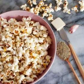 Rosemary Garlic Savory Popcorn