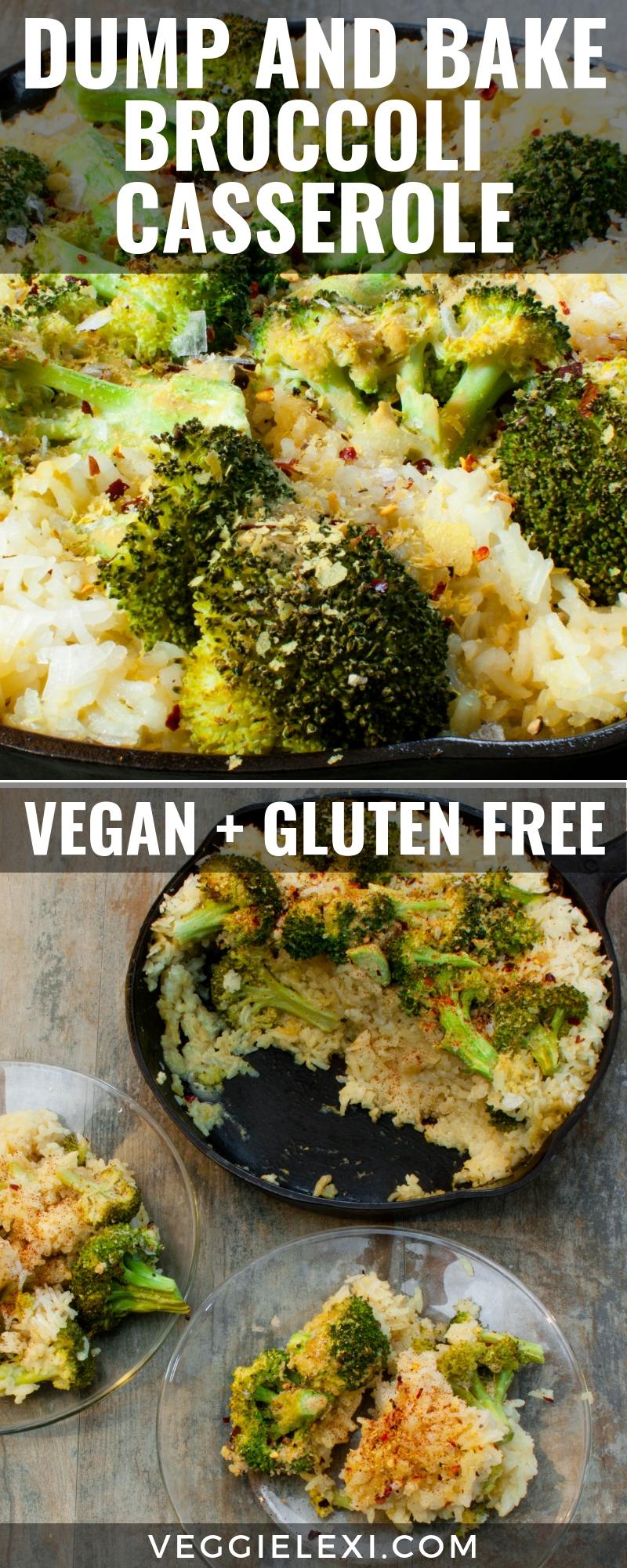 Dump and Bake Cheesy Vegan Gluten Free Casserole - by Veggie Lexi
