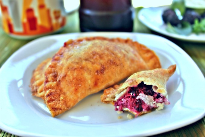 Blackberry Basil Empanadas are a sweet-tooths dream. Flaky pie crust wrapped around a creamy, fruity center.