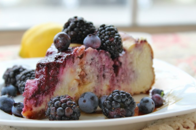 Berry Swirl Cheesecake is a pretty participant at any get together for family or friends. You may end up keeping it for yourself though, it's that delicious.