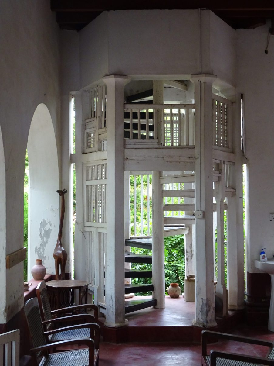 A very cool guesthouse staircase, Jaffna