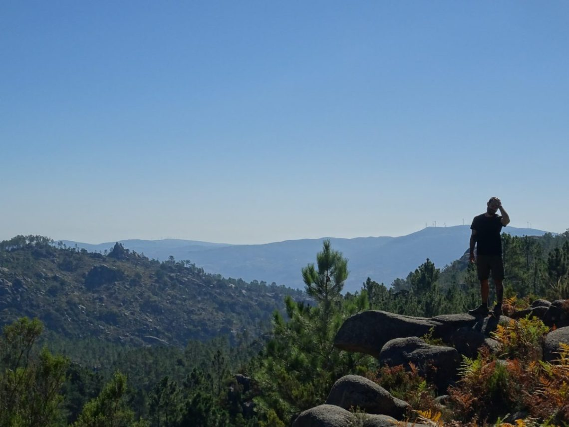 Man hiking at Peneda-Gerês National Park