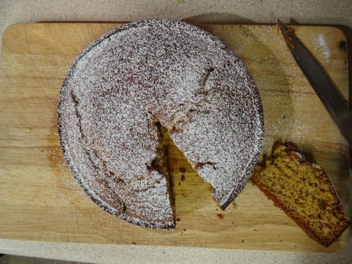 Portuguese Vegan Honey, Almond and Orange Cake
