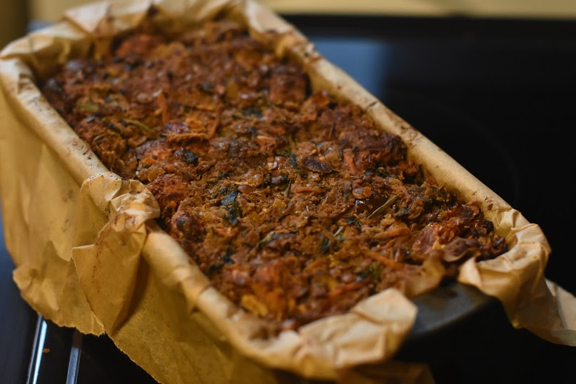 Vegan Chestnut, Lentil and Mushroom Loaf