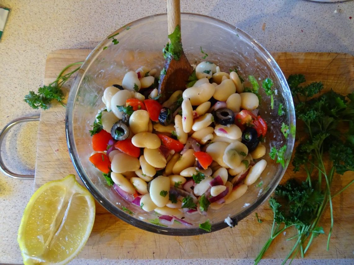 Summer Butter Bean and Parsley Salad