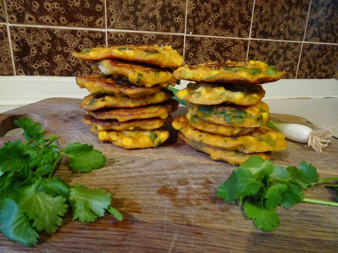 Vegan Pumpkin and Sweetcorn Fritters