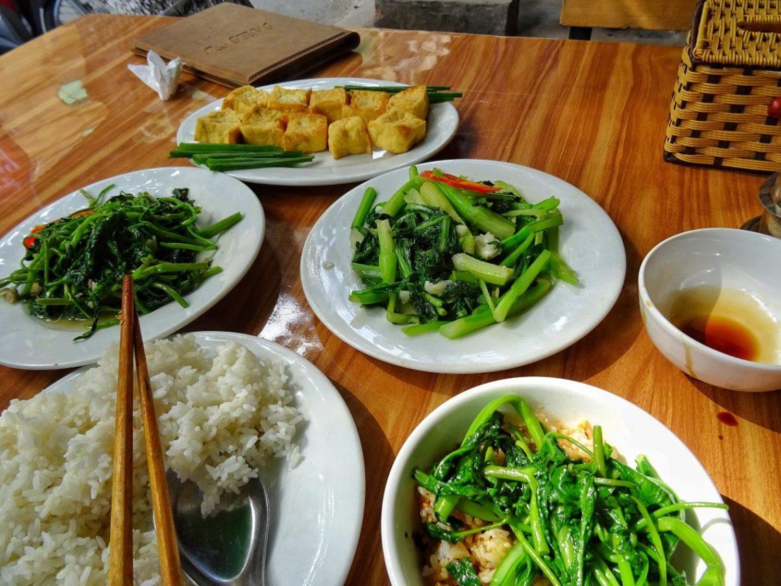 vegan Tofu water spinach vietnam