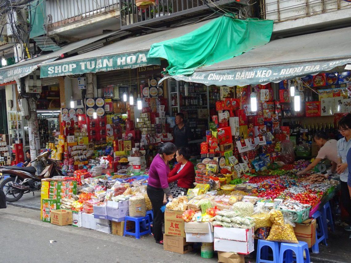 Traditional shop in Vietnam