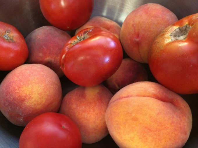 tomatoes and peaches