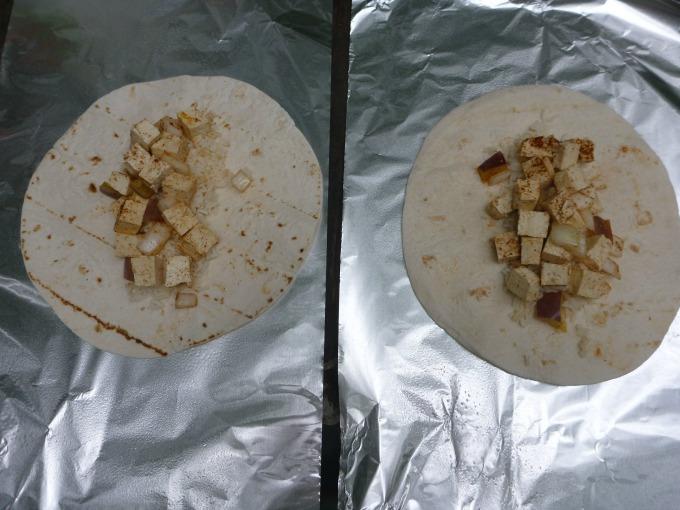 tofu in tortilla