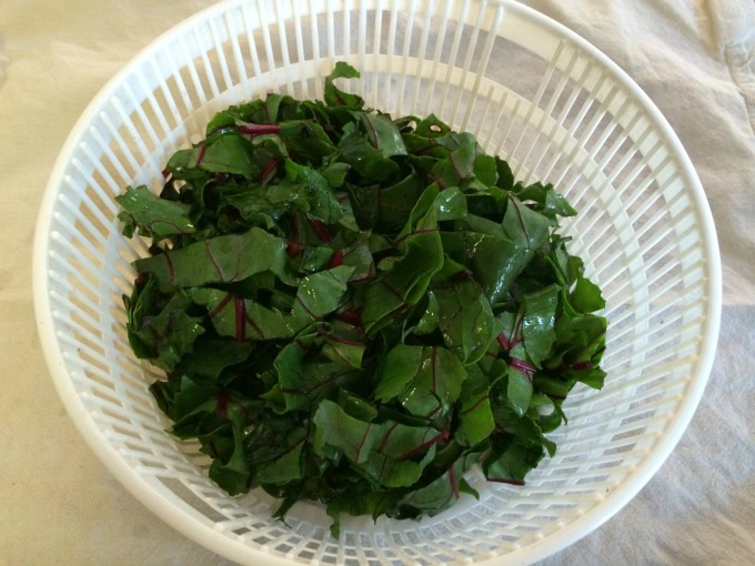 Sliced Beet Greens