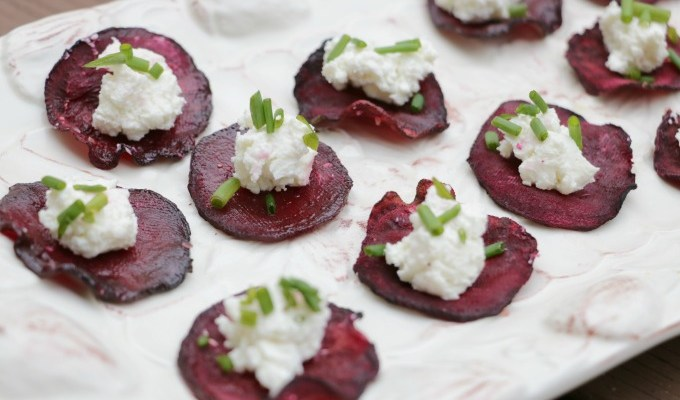 Beet and Goat Cheese Bites