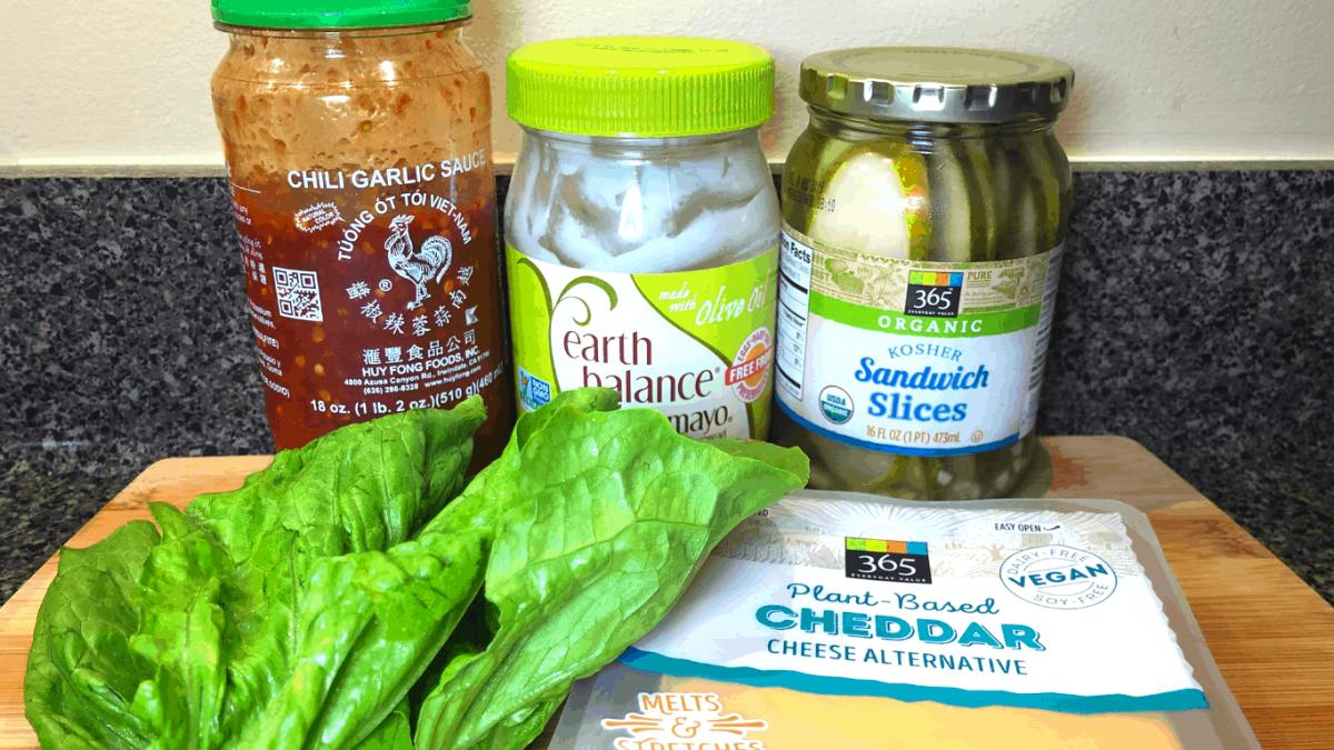 Toppings we used for our Vegan Burger Taste Test