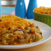 Lentil and Chickpea Cottage Pie with Sweet Potato Topping