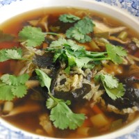 Shiitake Mushroom and Nori 'Noodle' Soup