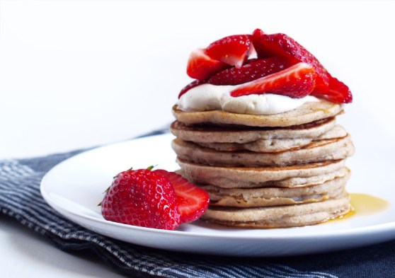 Image result for Strawberry buckwheat pancakes