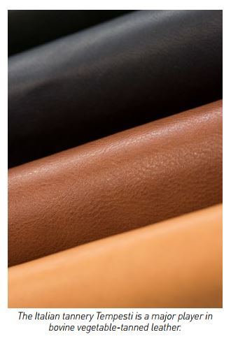 Examples of vegetable tanned leather