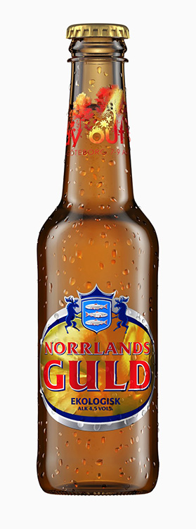 Norrlands guld ölflaska