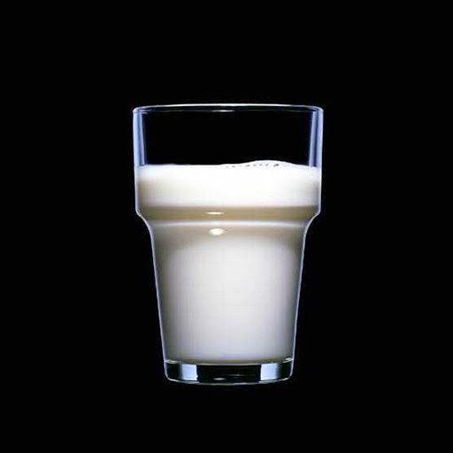 Ett glas med mjölk