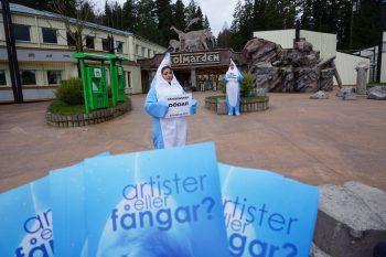 Djurrättsalliansen protest mot Kolmården