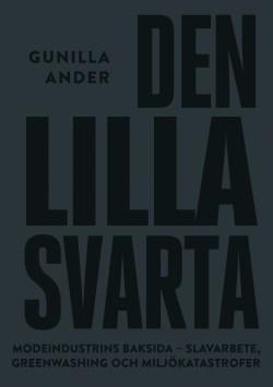 Bokomslag till Den lilla svarta, helsvart med texten i versaler i blank svart över hela omslaget.
