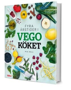 Omslaget till boken Fyra årstider i vegoköket