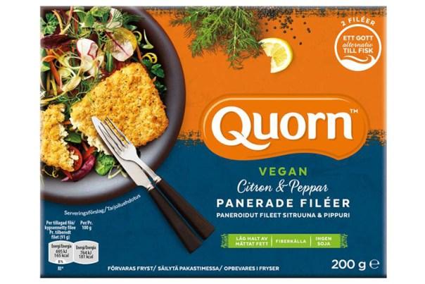 Förpackning till produkten Quorn vegansk fiskfilé