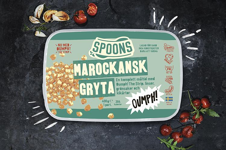 Förpackning till färdig gryta från Spoons