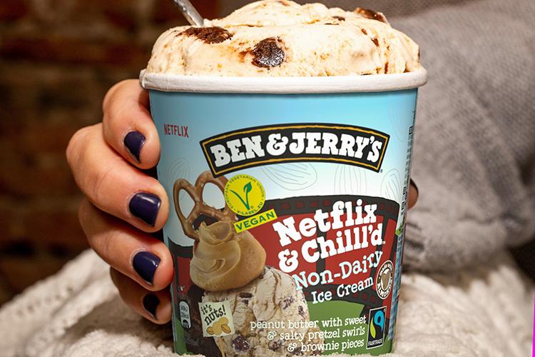 Förpackning till Ben & Jerry's Non-Dairy Netflix & Chilll'd
