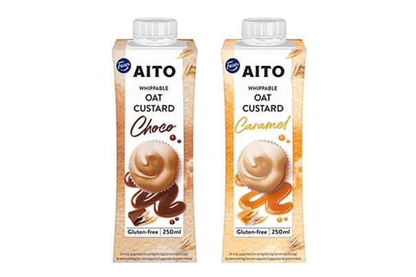 Två förpackningar Aito kakao och karamell