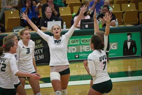 UVU women's volleyball sweep Seattle