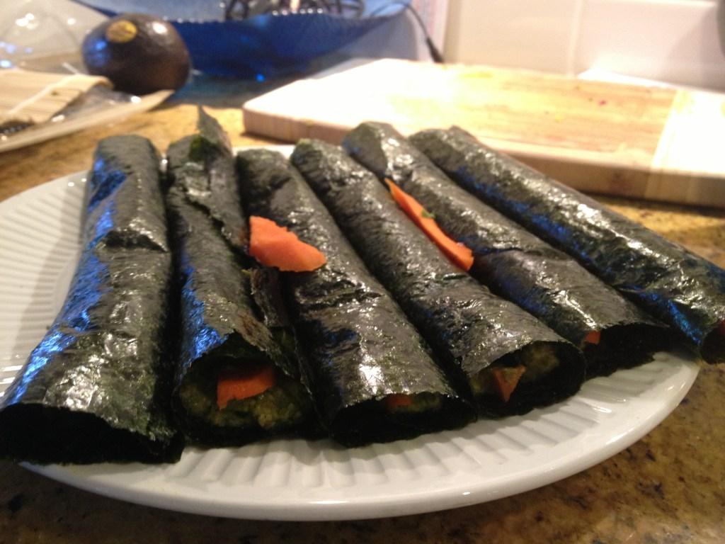 Raw Sunflower Seed Jalapeno Kale Sushi
