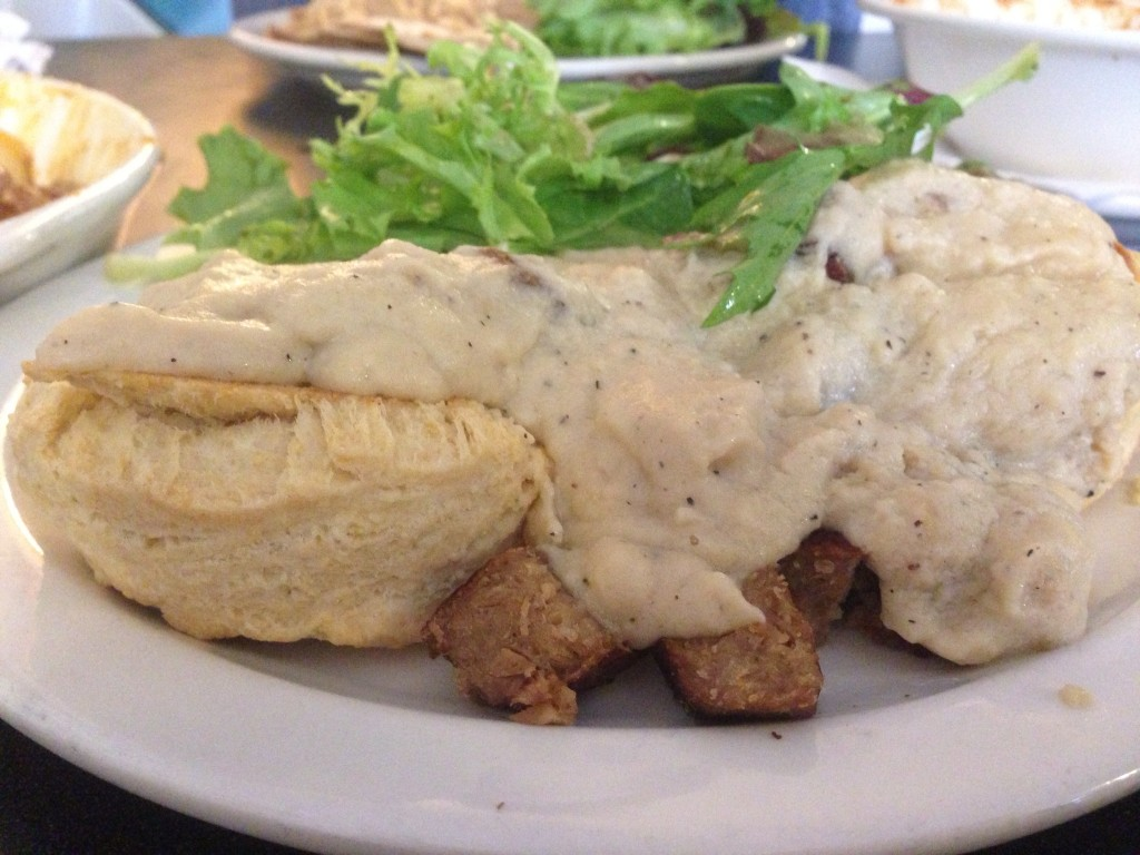 Champs Vegan Diner Biscuits and Gravy
