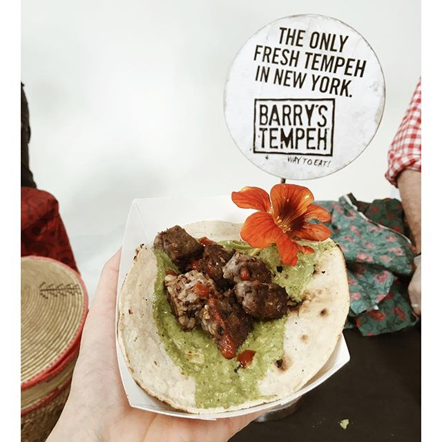 Barry's Tempeh Taco at the Plant-based Bushwick event today  Hope all of your Saturdays are as awesome and delicious as ours is!