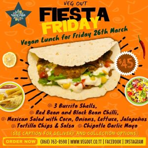 Friday 26th March Vegan Lunch